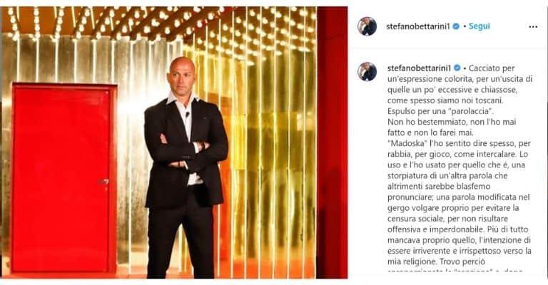 Il post di Stefano Bettarini su Instagram
