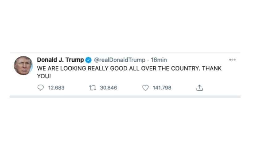 Il tweet di trump