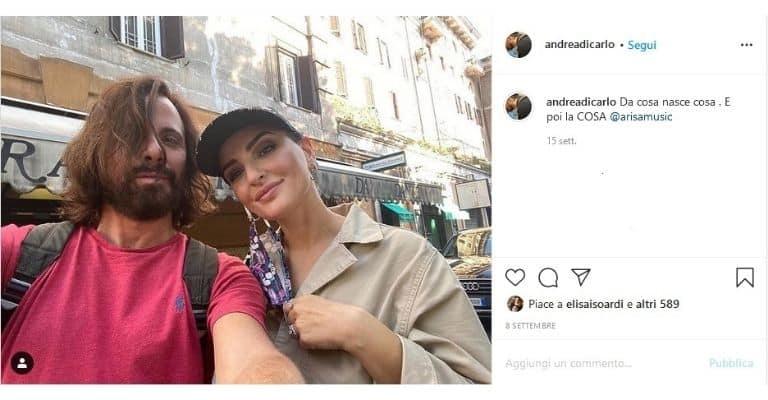 Andrea Di Carlo e Arisa lo scorso settembre.