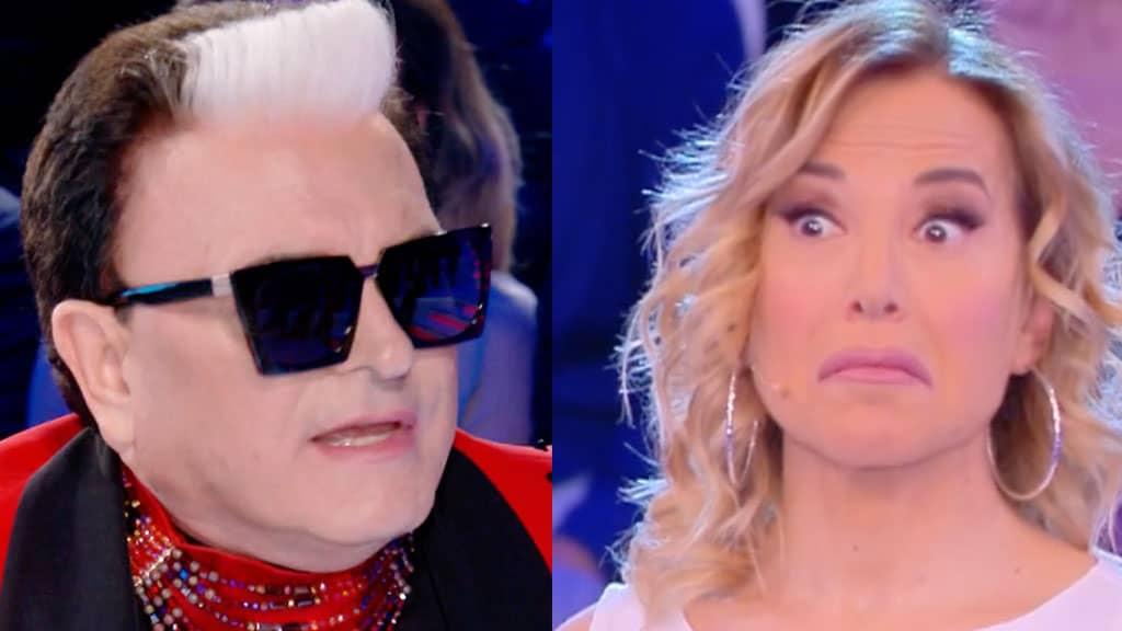 Cristiano Malgioglio e Barbara d'Urso in tv