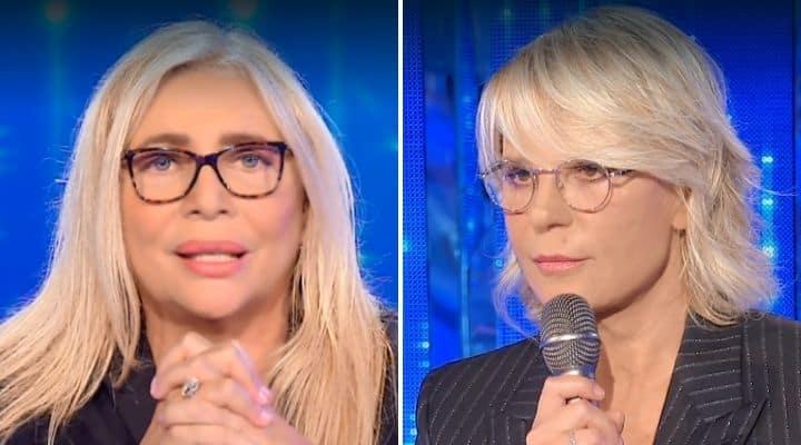 Mara Venier e Maria De Filippi in tv