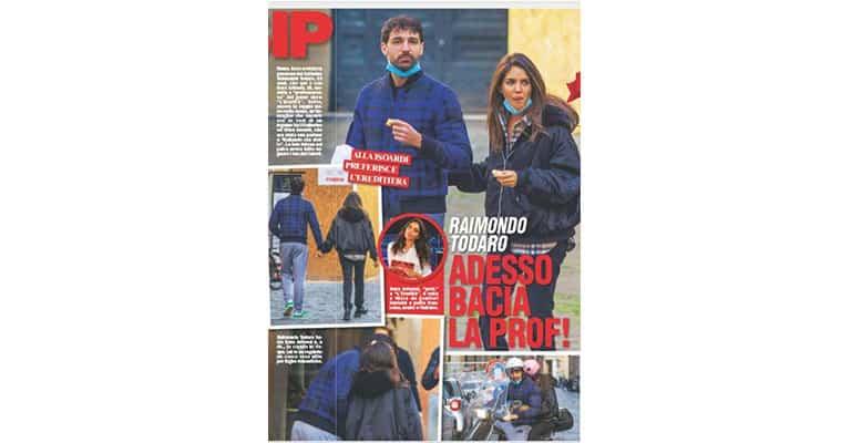 Raimondo Todaro e Sara Arfaoui sul settimanale Chi