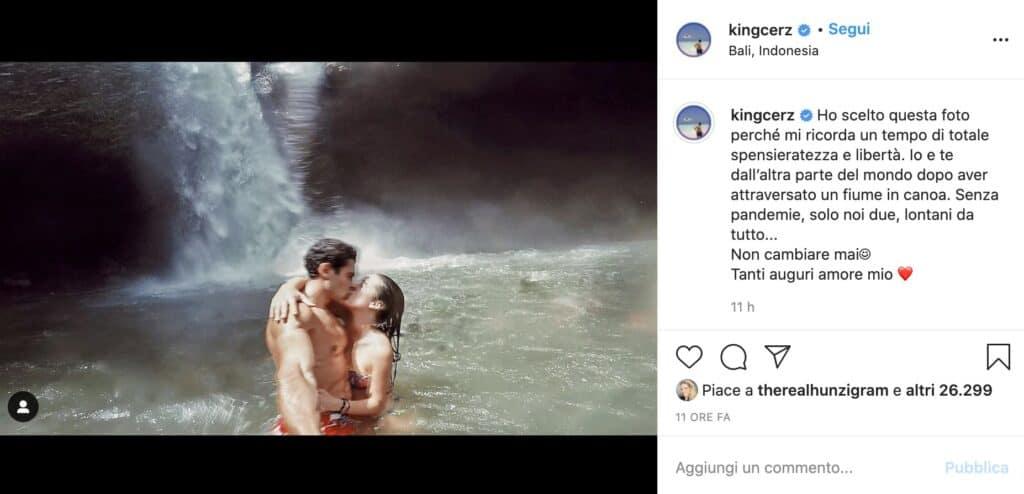 Il post Instagram di Goffredo Cerza