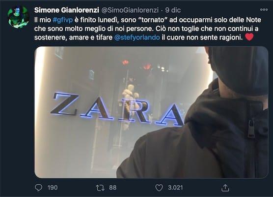 tweet di Simone Gianlorenzi