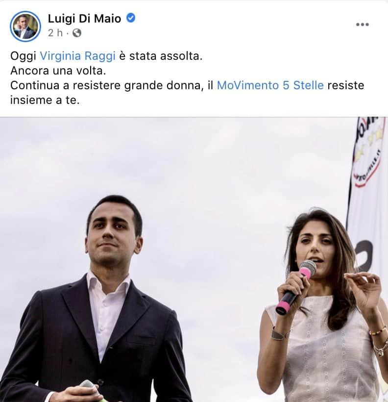 Il post su Facebook di Luigi Di Maio