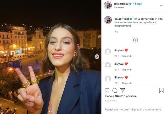 L'annuncio di Gaia Gozzi della partecipazione a Sanremo