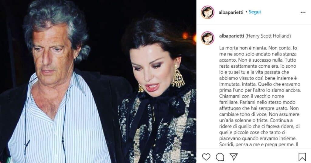 post ig di Alba Parietti