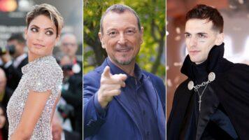 Amadeus annuncia Elodie e Achille Lauro a Sanremo 2021