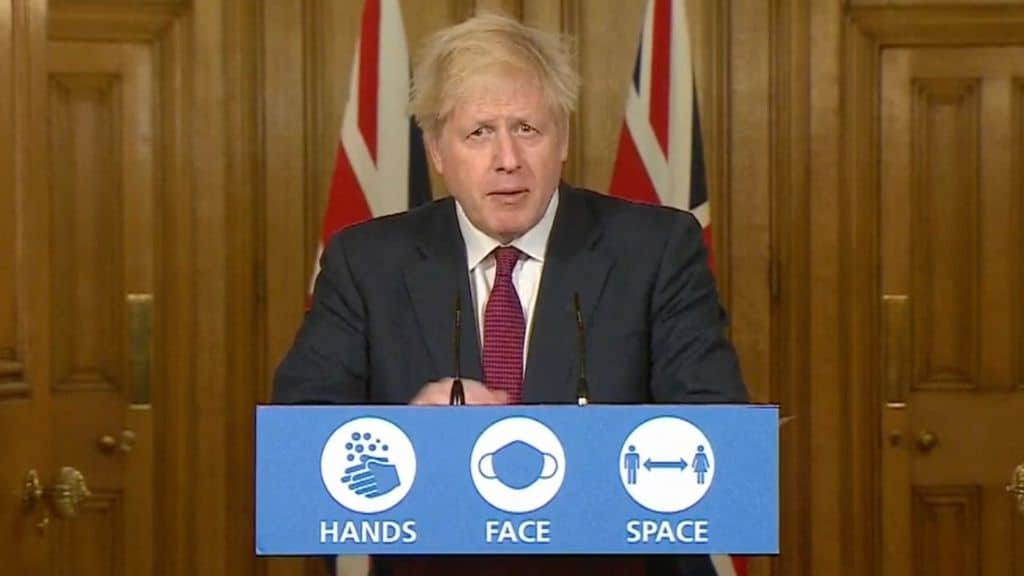 la conferenza stampa di boris johnson