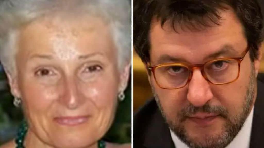 La prof Rosa Maria dell'Aria e Matteo Salvini