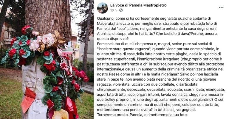 Il post della famiglia di Pamela Mastropietro