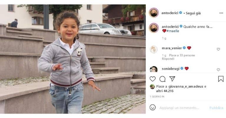 Maelle la figlia di Antonella Clerici