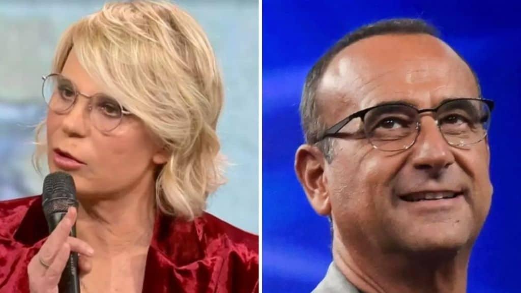 Maria-De-Filippi-Carlo-Conti-Oggi-in-tv-sabato-16-gennaio-2020