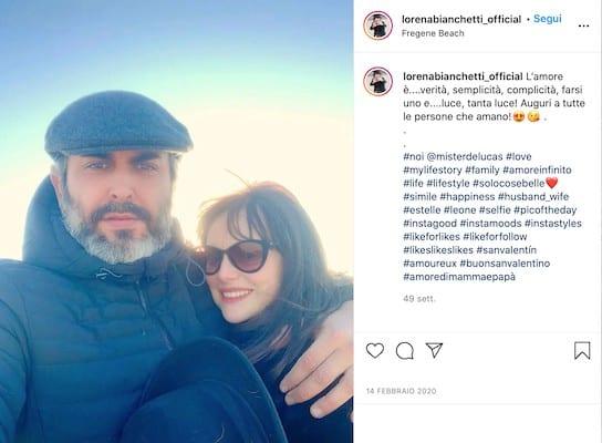 Lorena Bianchetti e il marito Bernardo