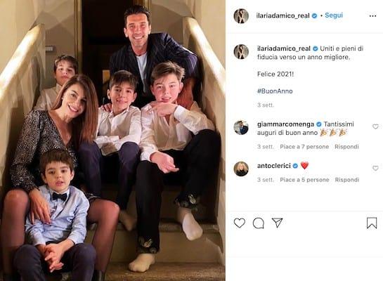 Ilaria D'Amico, Gigi Buffon e i figli