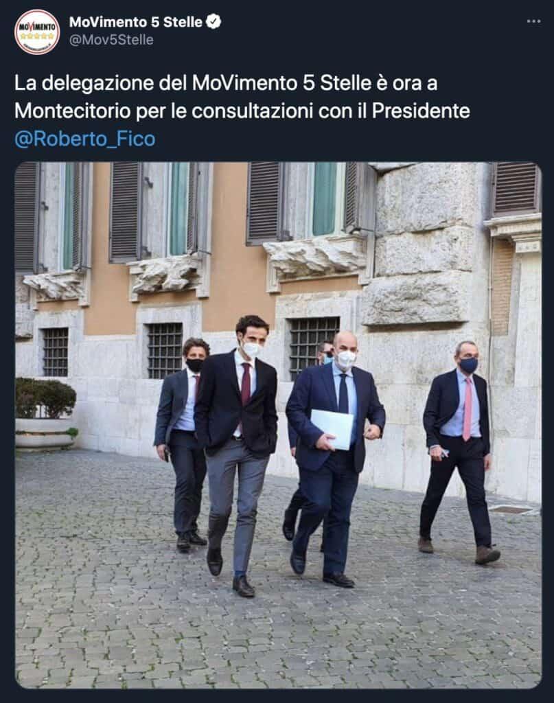 Tweet del Movimento 5 Stelle