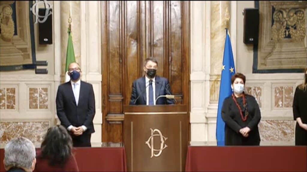 La conferenza stampa di Italia Viva
