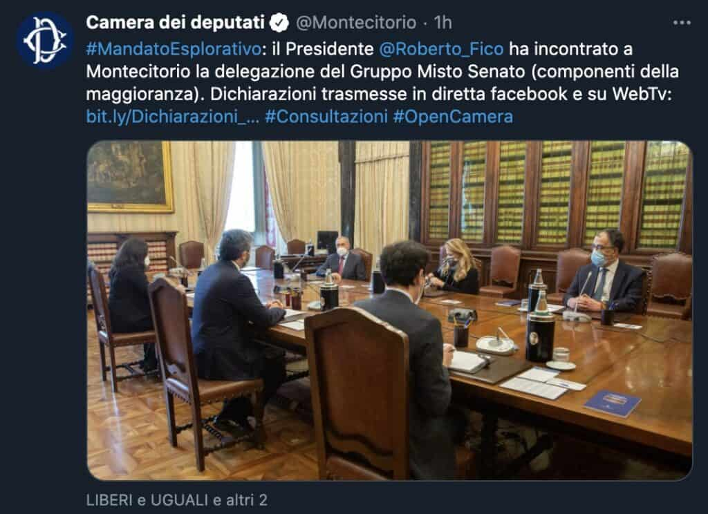 L'incontro tra il presidente Fico e il Gruppo Misto al Senato