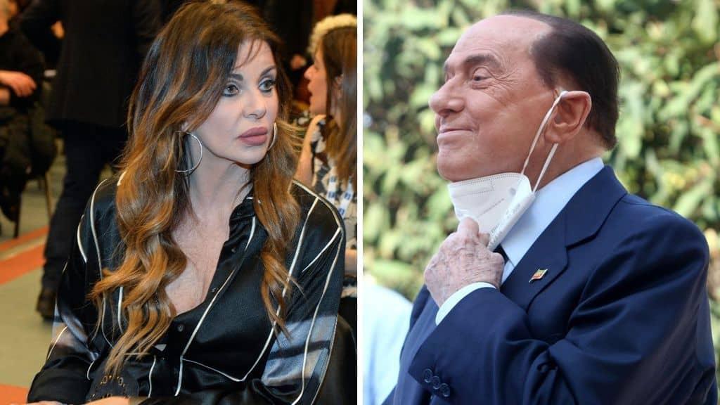 Alba Parietti e Silvio Berlusconi