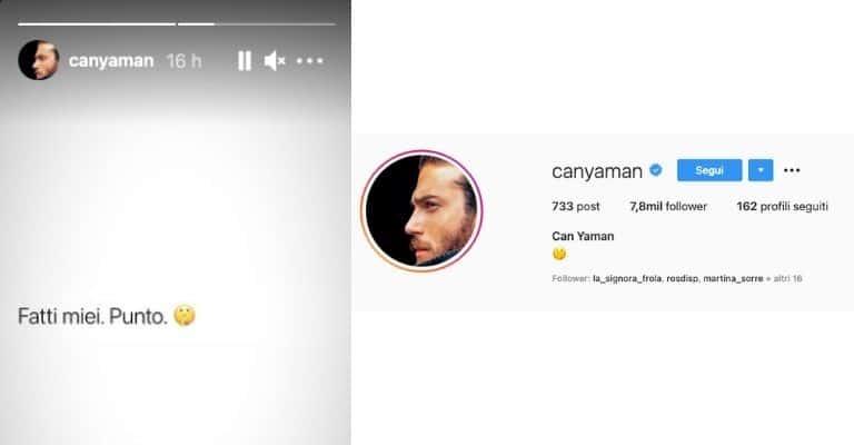 Can Yaman risponde su Instagram alle voci su Diletta Leotta