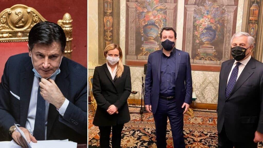 Crisi di governo, il centrodestra da Mattarella. Per Conte strada in salita