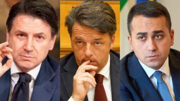 Giuseppe Conte, Matteo Renzi e Luigi Di Maio