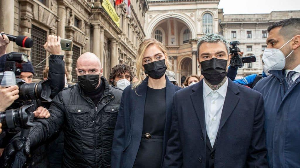 fedez e chiara ferragni a Milano