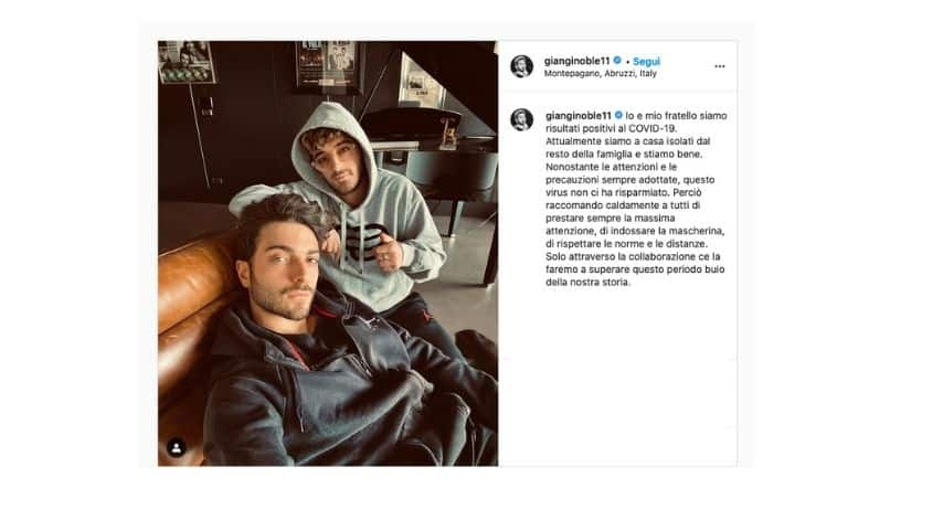 Il post di Ginoble su Instagram