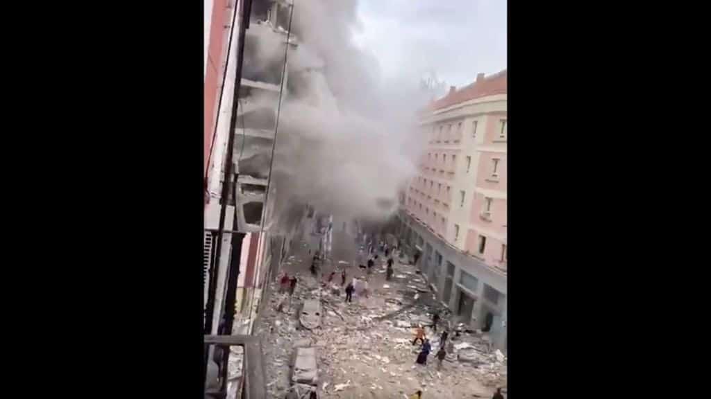 madrid esplosione palazzina