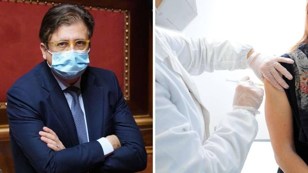 Il vice-ministro Sileri e una persona vaccinata