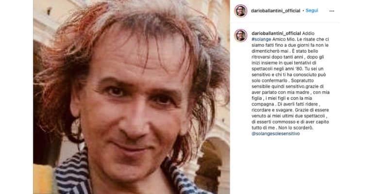 Post di Dario Ballantini su Solange