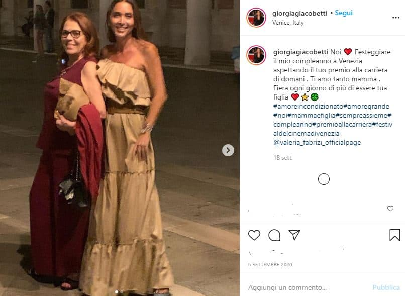 Valeria Fabrizi insieme alla figlia Giorgia