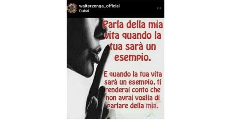 La storia Instagram di Walter Zenga