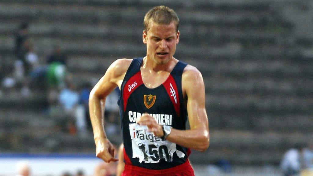Alex Schwazer durante una gara atletica