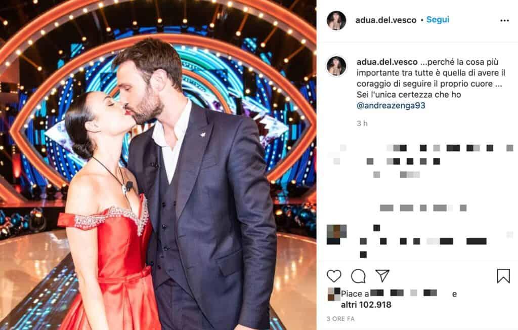 Il post Instagram di Rosalinda