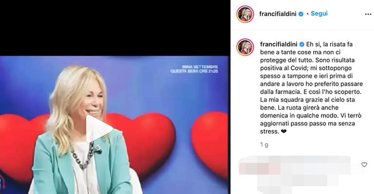 Post di Francesca Fialdini su Instagram