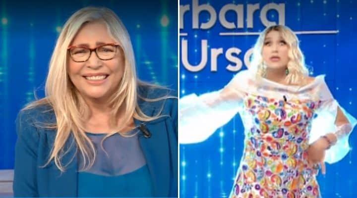 Mara Venier e l'imitatore di Barbara D'Urso a Domenica In