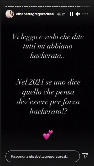 Gregoraci storia Instagram