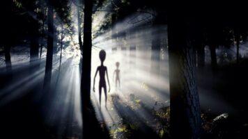alieni alberi disegno