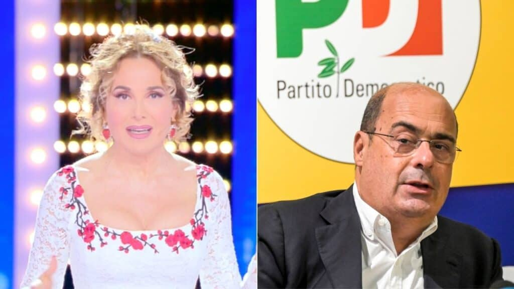 Live –  Non è la d'Urso, Barbara d'Urso replica alle polemiche su Zingaretti: la crisi d'identità del PD