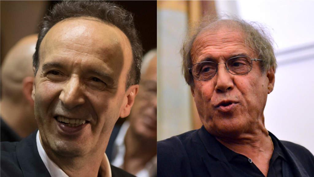 Roberto Benigni e Adriano Celentano