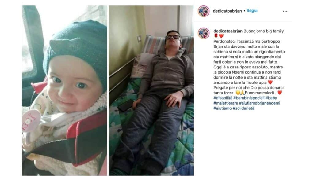 Brjan e Noemi affetti dalla rara sindrome di Van Der Knaap