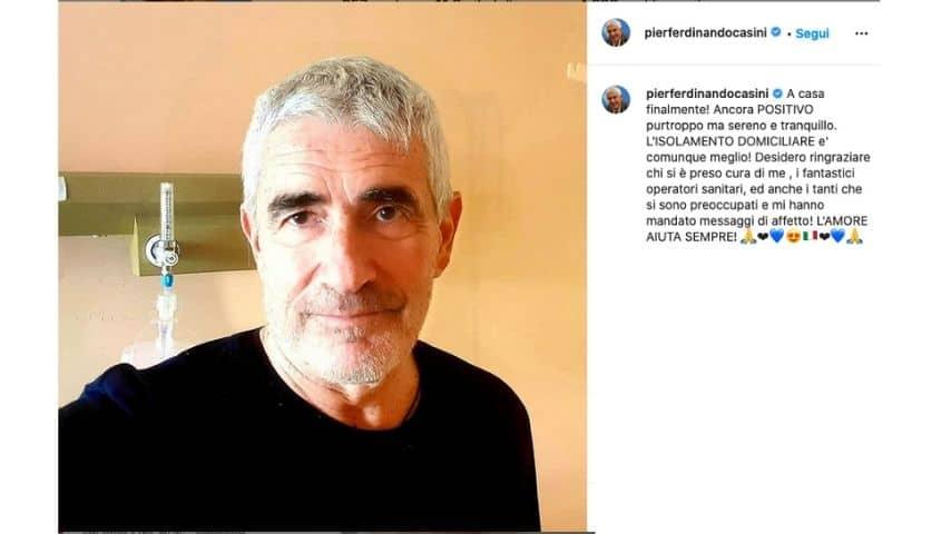 Il post di Casini su Instagram