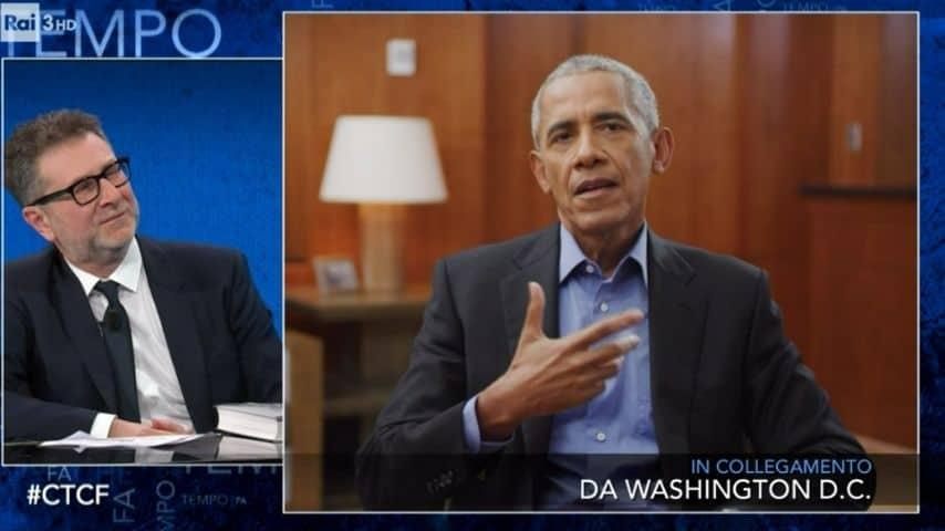 Fabio Fazio e Barack Obama a Che tempo che fa