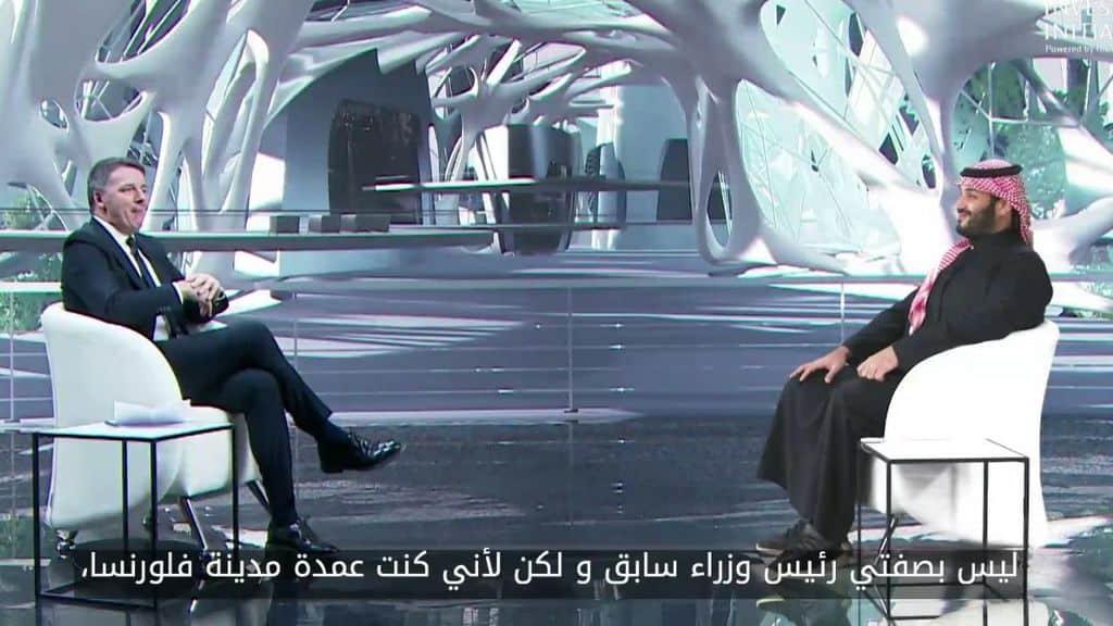 il colloquio tra matteo renzi e bin salman in arabia saudita