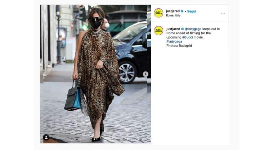 Lady Gaga paparazzata a Roma