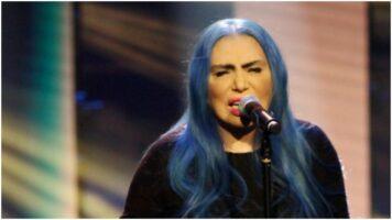 Loredana Bertè mentre canta