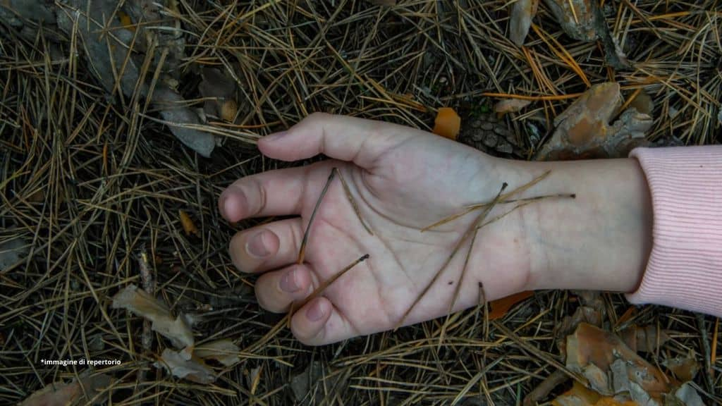 mano di una bimba morta