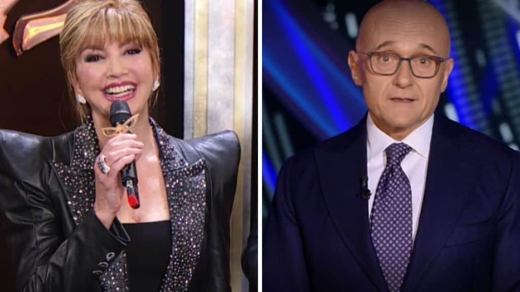 Milly Carlucci e Alfonso Signorini in diretta
