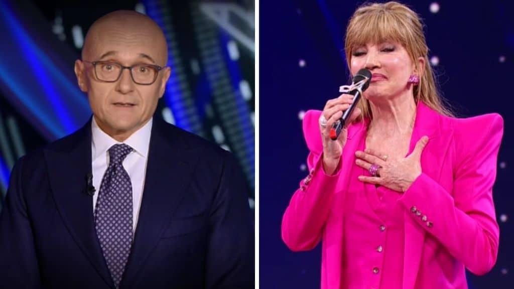 Alfonso Signorini e Milly Carlucci in diretta tv